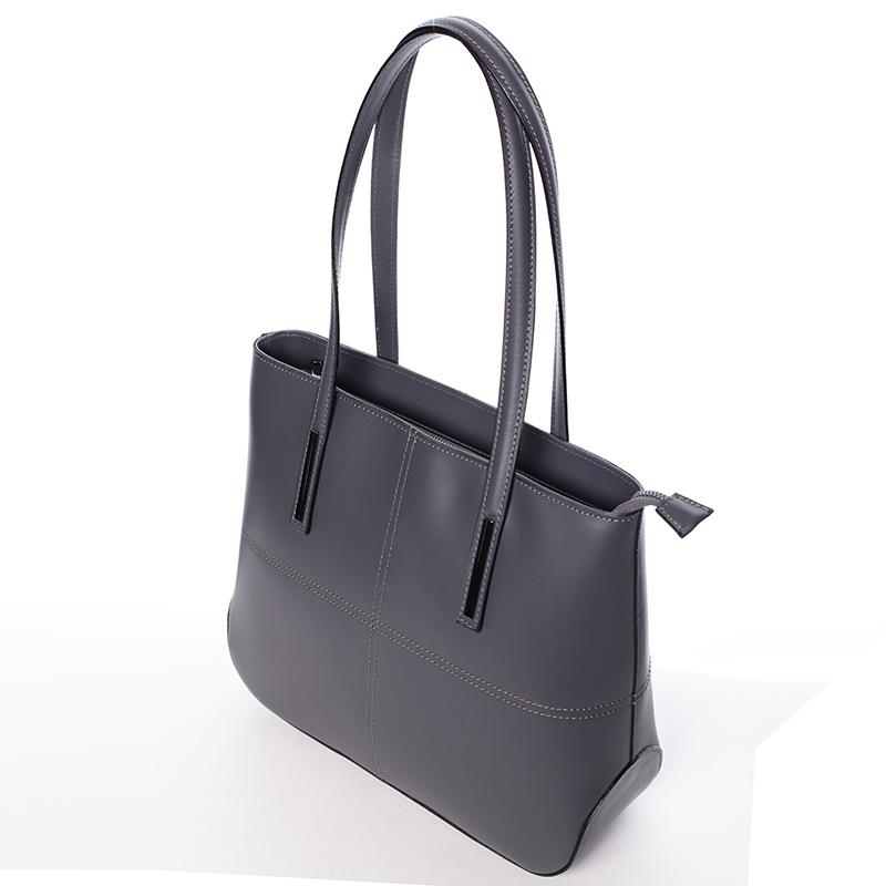 Dámská elegantní kožená kabelka Kierra, tmavě šedá