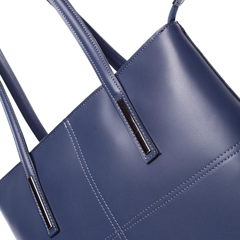 Dámská elegantní kožená kabelka Kierra, tmavě modrá