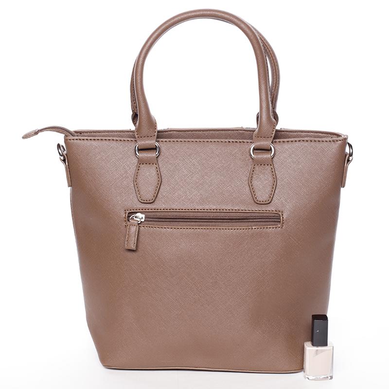 Dámská luxusní kabelka do ruky David Jones Celia, camel