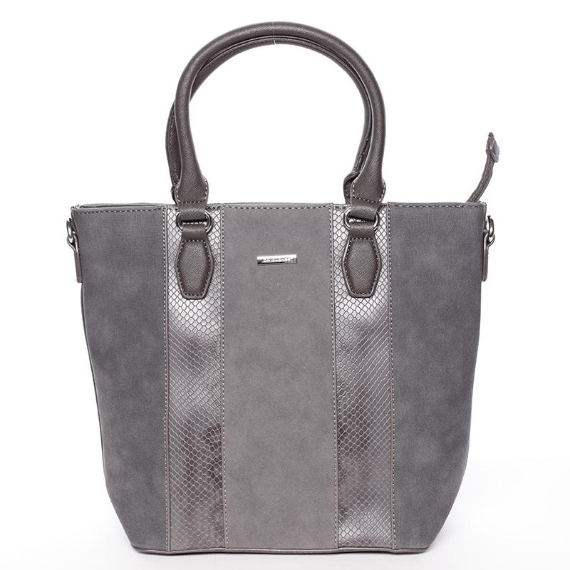 Dámská luxusní kabelka do ruky David Jones Celia, tmavě šedá
