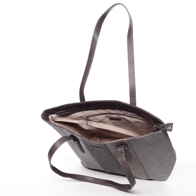 Dámská trendy kabelka do ruky David Jones Pamela, tmavě šedá