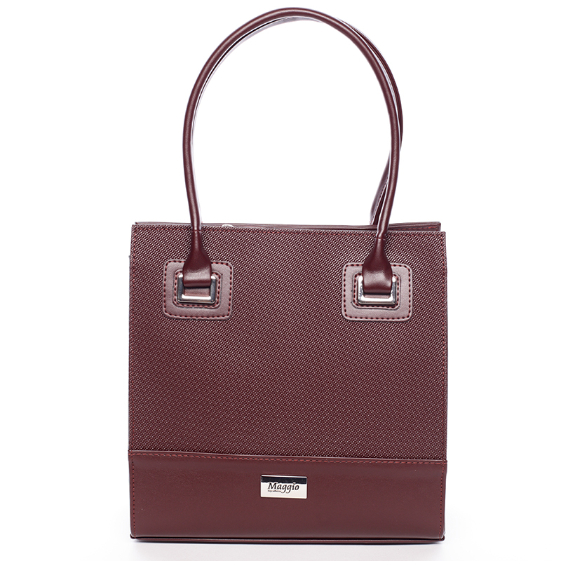 Luxusní kabelka Evelína Grain Edition, bordó