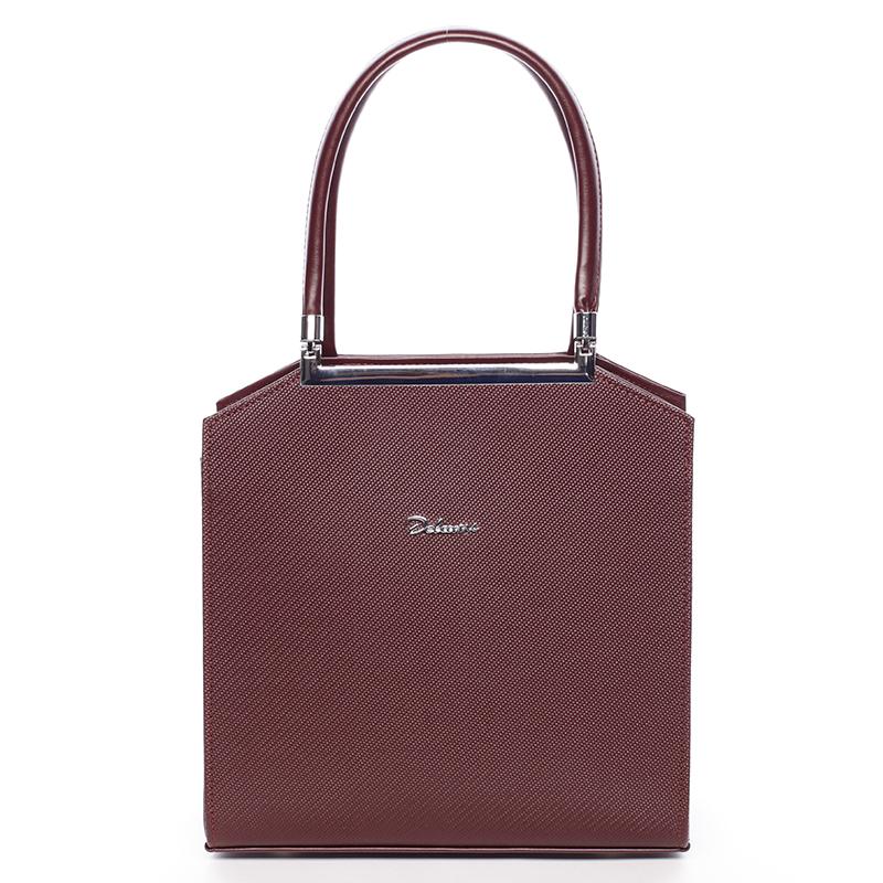 Luxusní kabelka do ruky Mackenzie, bordó