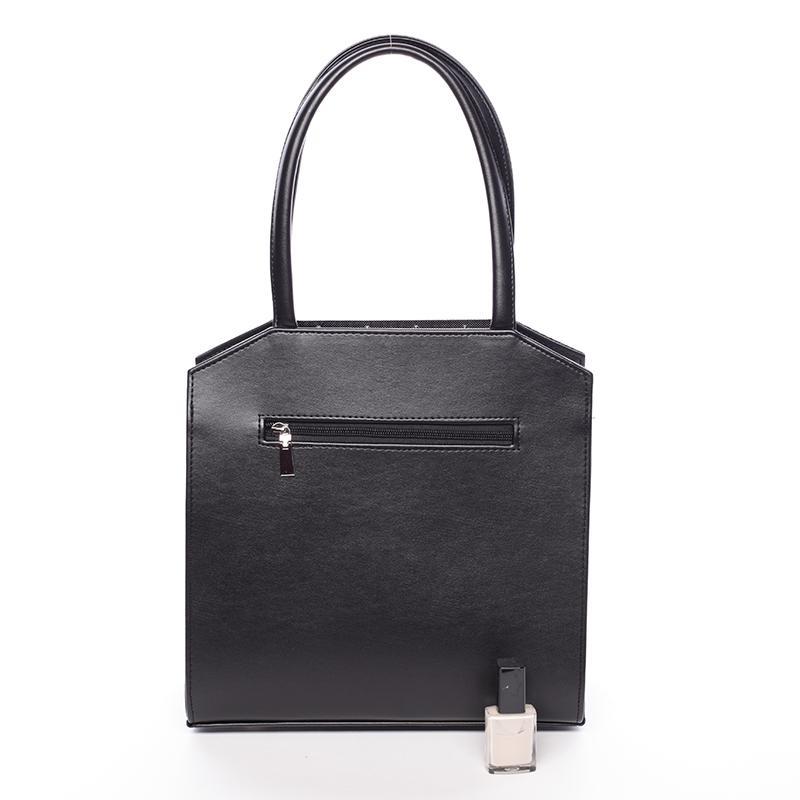 Luxusní kabelka do ruky Mackenzie, černá hrubá