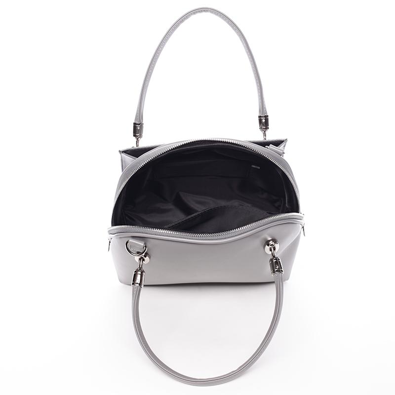 Luxusní kabelka do ruky Lillie, šedá