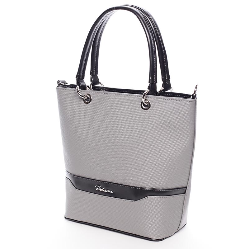 Stylová matná kabelka Ardis, šedo-černá