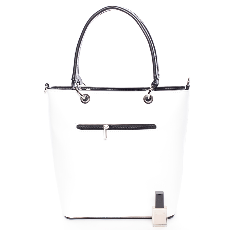 Stylová matná kabelka Ardis, bílo-černá