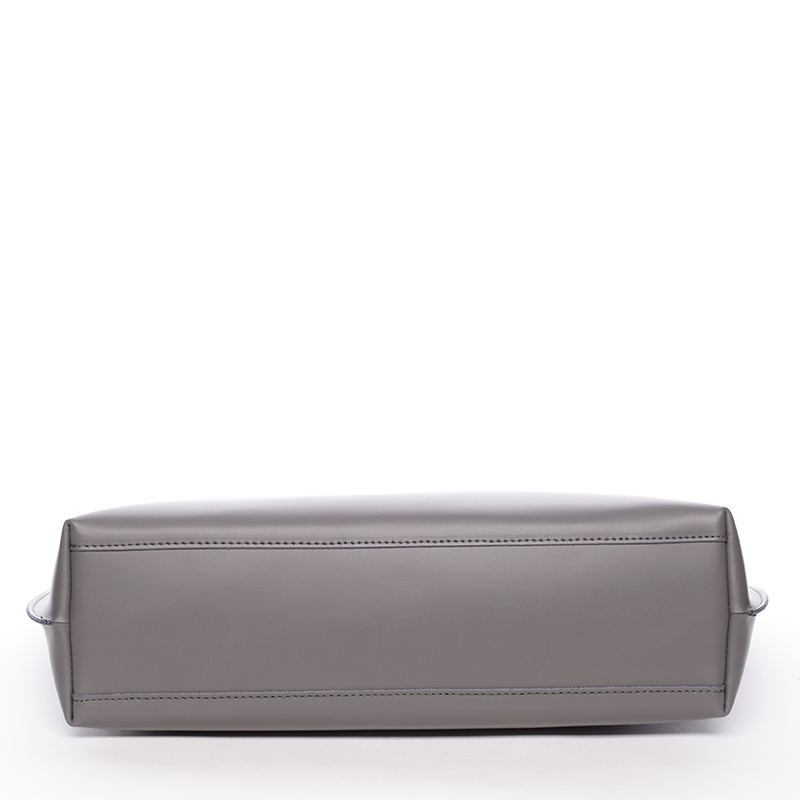 Dámská kožená kabelka do ruky Desideria, šedá new