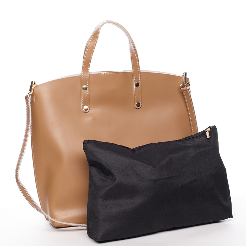 Atraktivní kožená kabelka Bailey, camel