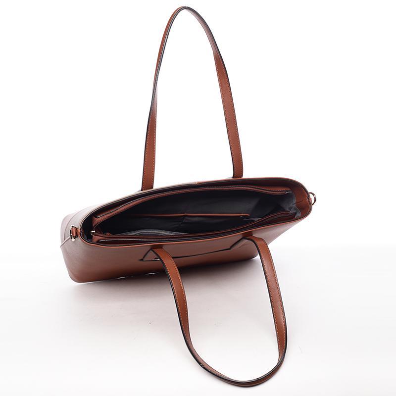 Dámská originální kabelka přes rameno Editha, hnědo-kávová