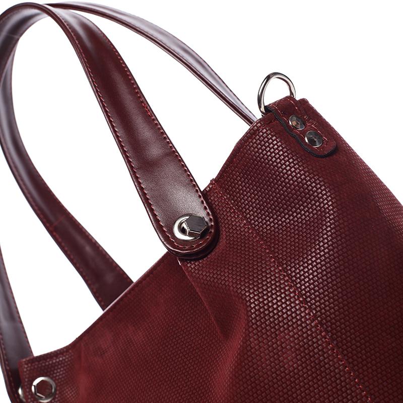 Stylová dámská kabelka přes rameno Encarnición, bordó