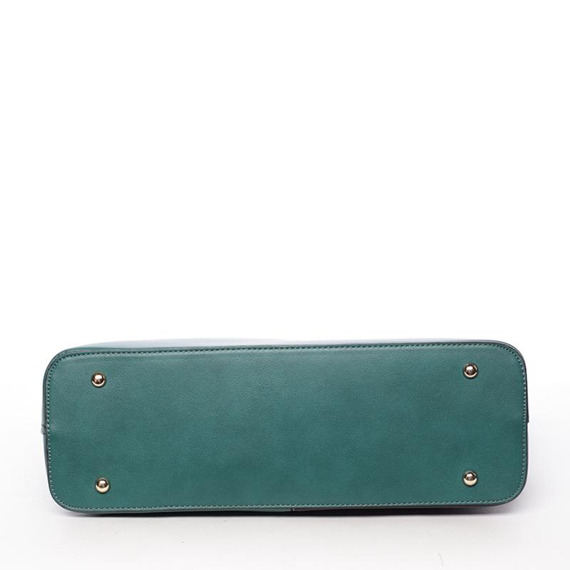 Dámská originální kabelka přes rameno Editha, černo-zelená