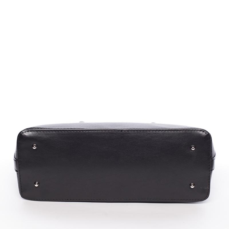 Luxusní kabelka do ruky Monique, černá hrubá