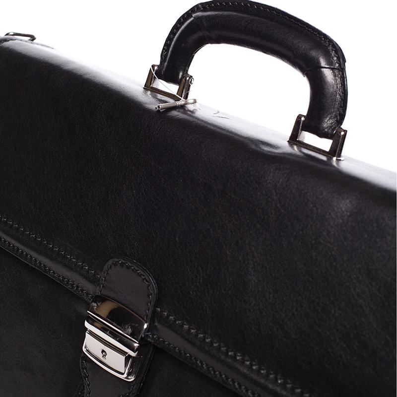 Pánská kožená aktovka Gallant exlusive, černá