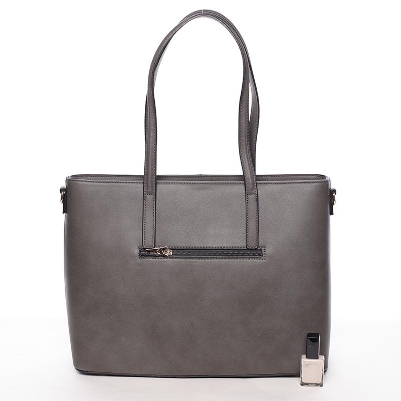 Dámská originální kabelka přes rameno Editha, šedo-černá