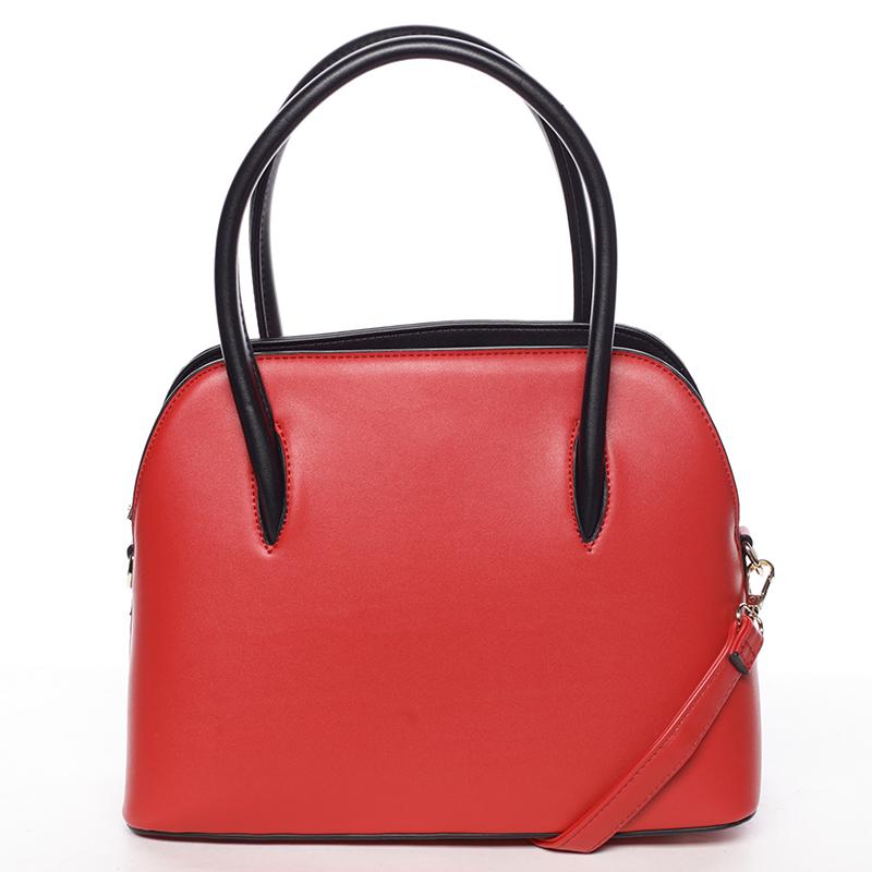 Trendy kabelka do ruky Leandra, červená
