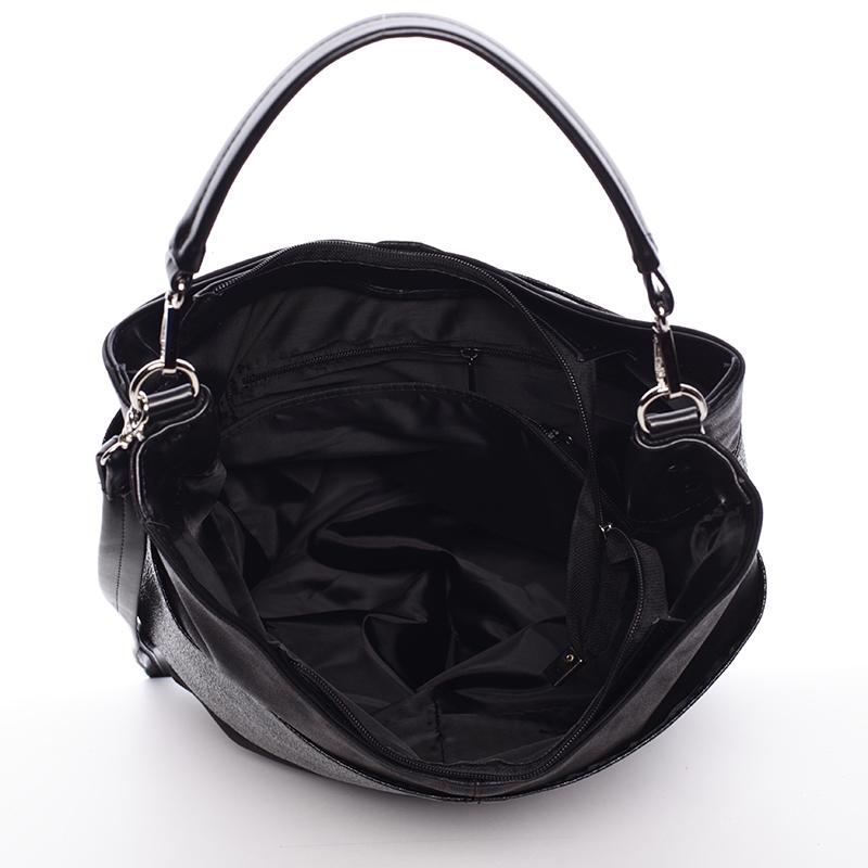 Okouzlující kabelka Salma, černá hrubá