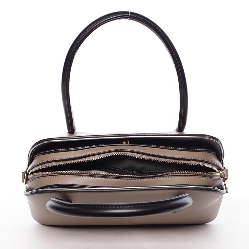 Trendy kabelka do ruky Leandra, oříšková