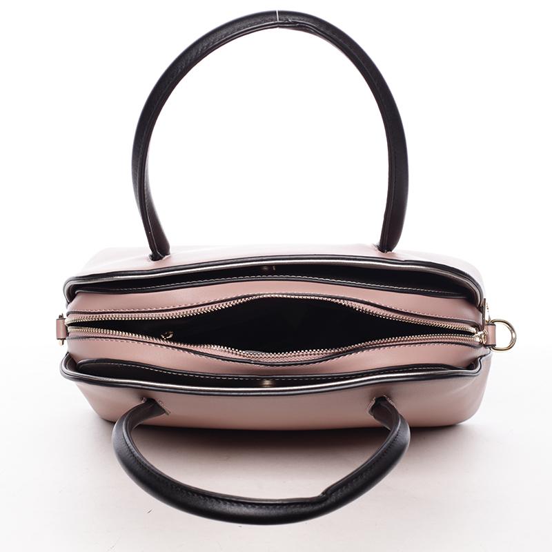 Trendy kabelka do ruky Leandra, růžová