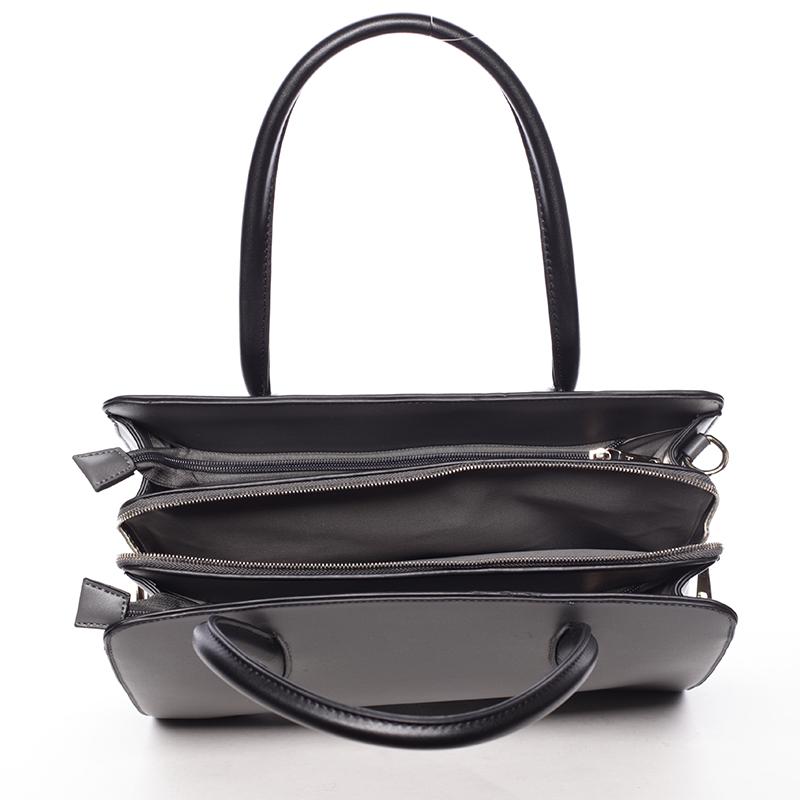 Dámská pevná kabelka do ruky Margaret, šedá