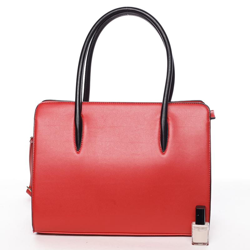Dámská pevná kabelka do ruky Margaret, červená