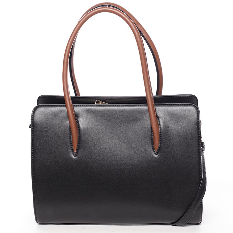 Dámská pevná kabelka do ruky Margaret, černá