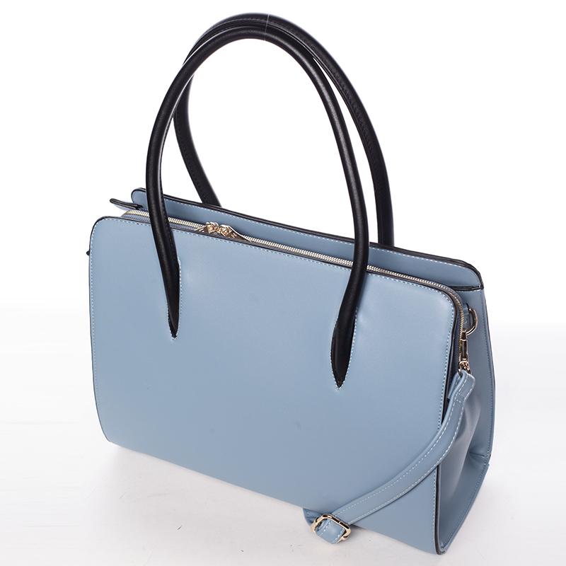Dámská pevná kabelka do ruky Margaret, světle modrá