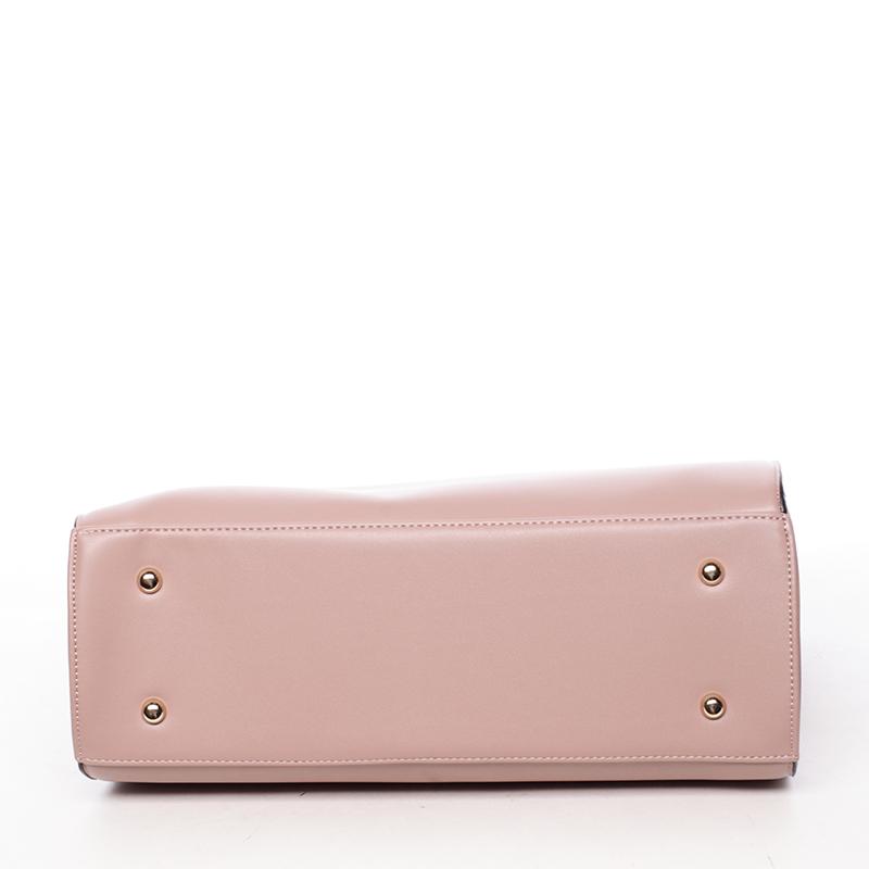 Dámská pevná kabelka do ruky Margaret, růžová