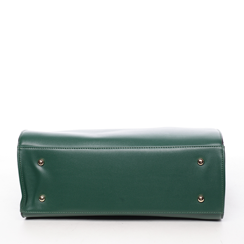 Dámská pevná kabelka do ruky Margaret, zelená