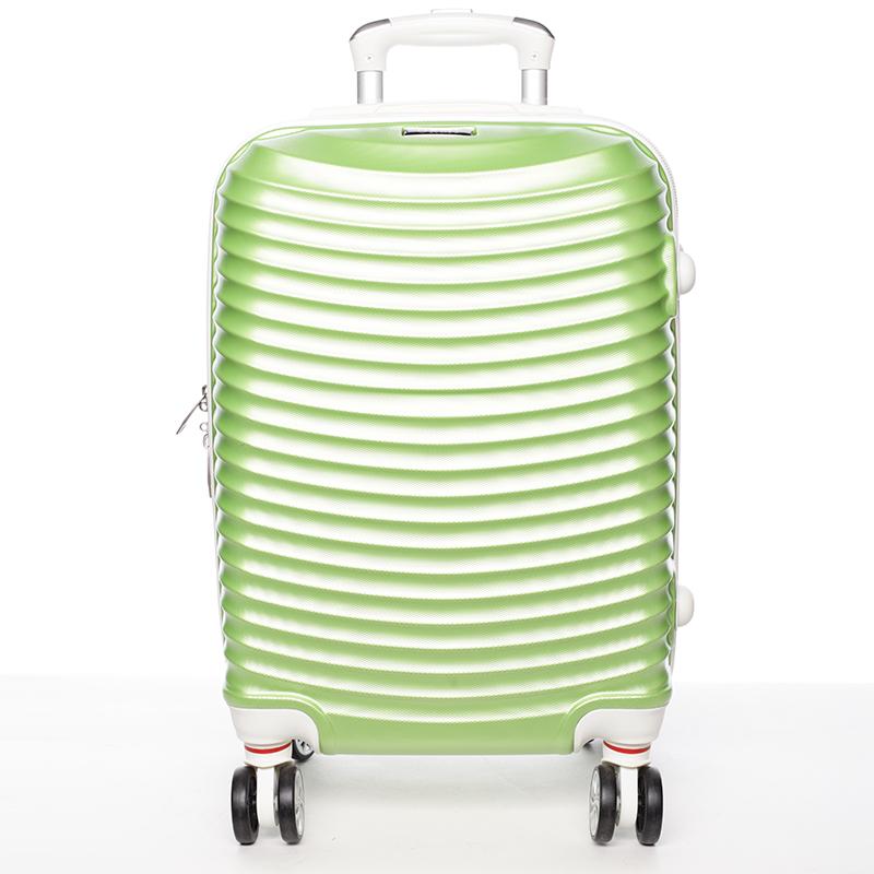 Stylový cestovní ORMI kufr 4 kolečka, vel. II, zelený