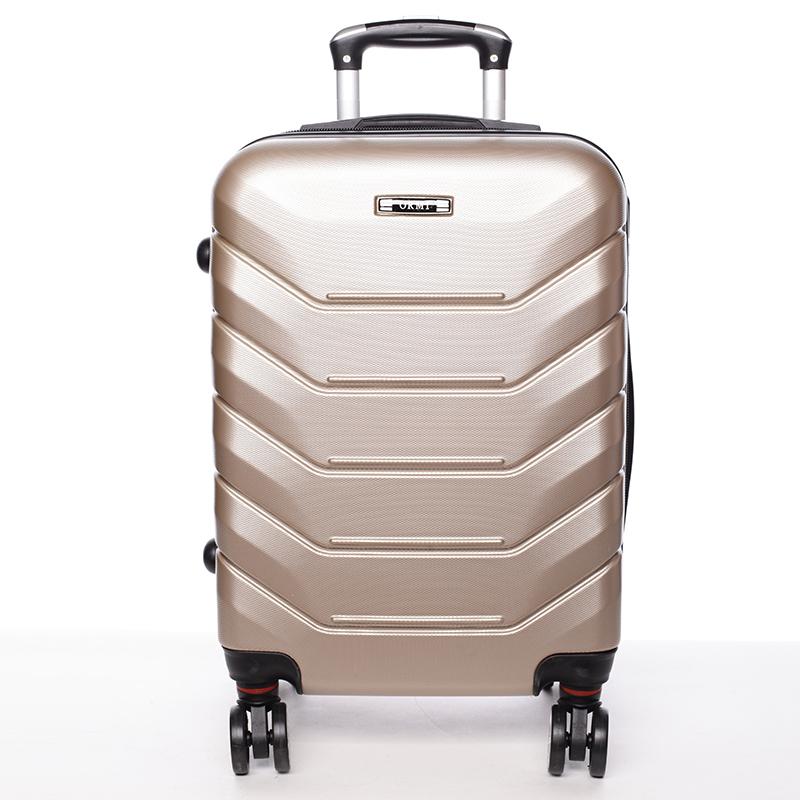 Cestovní stylový kufr 4 kolečka, vel. II, zlatý