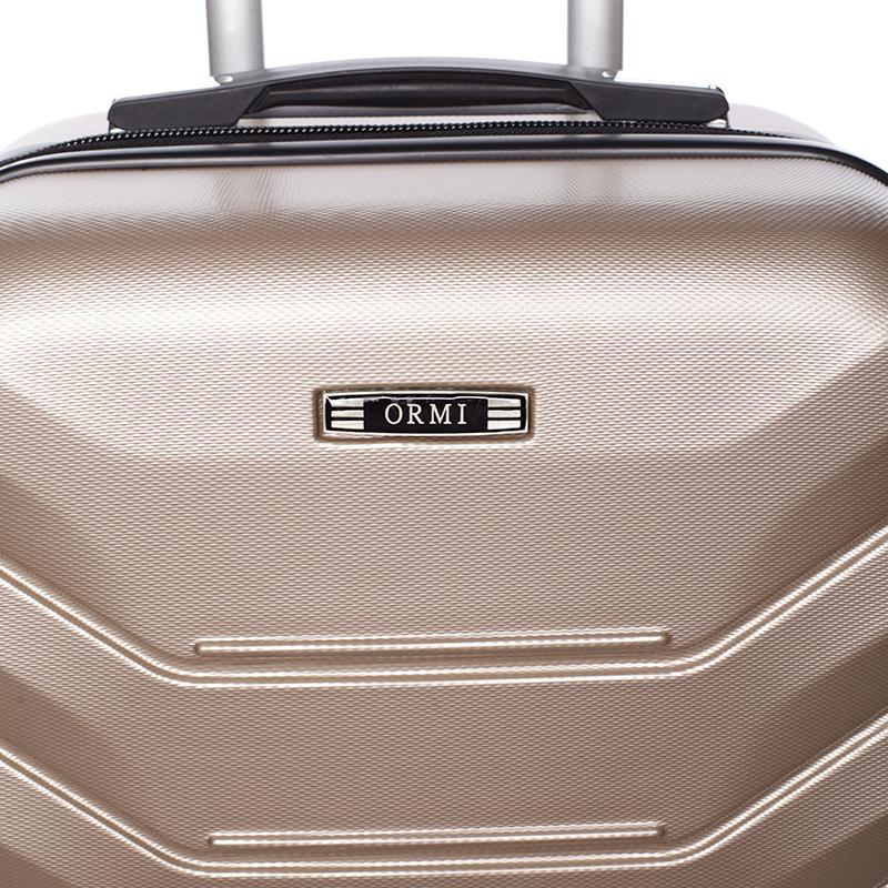 Cestovní stylový kufr 4 kolečka, vel.III, zlatý