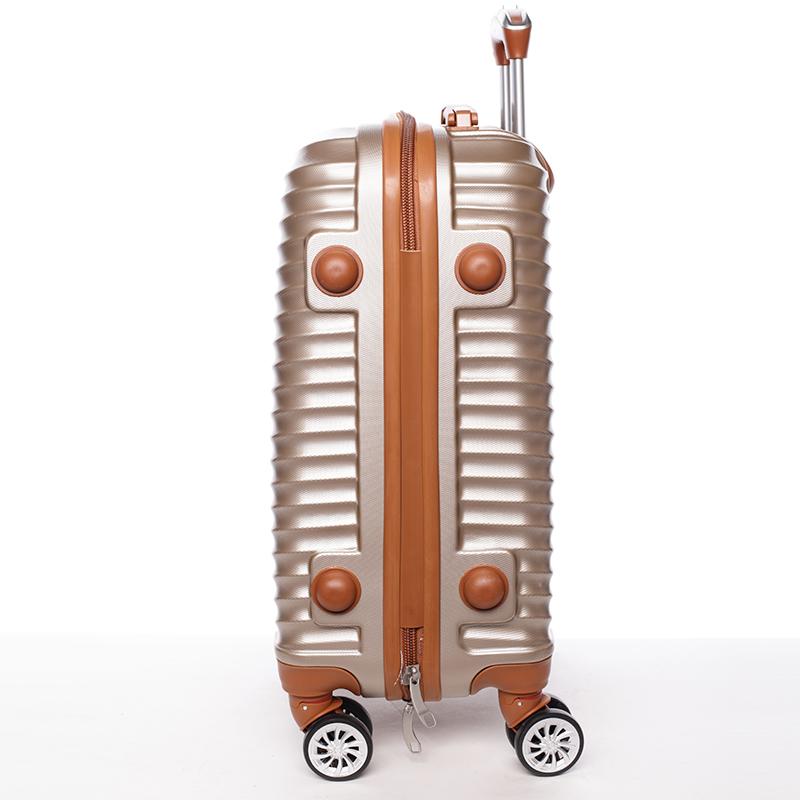 Stylový cestovní ORMI kufr 4 kolečka, vel. I, zlatý