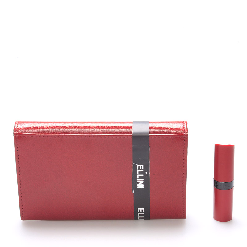 Elegantní kožená červená dámská peněženka Anja