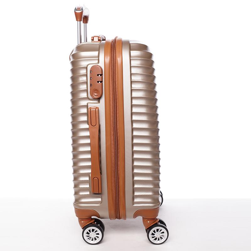 Stylový cestovní ORMI kufr 4 kolečka, vel. III, zlatý