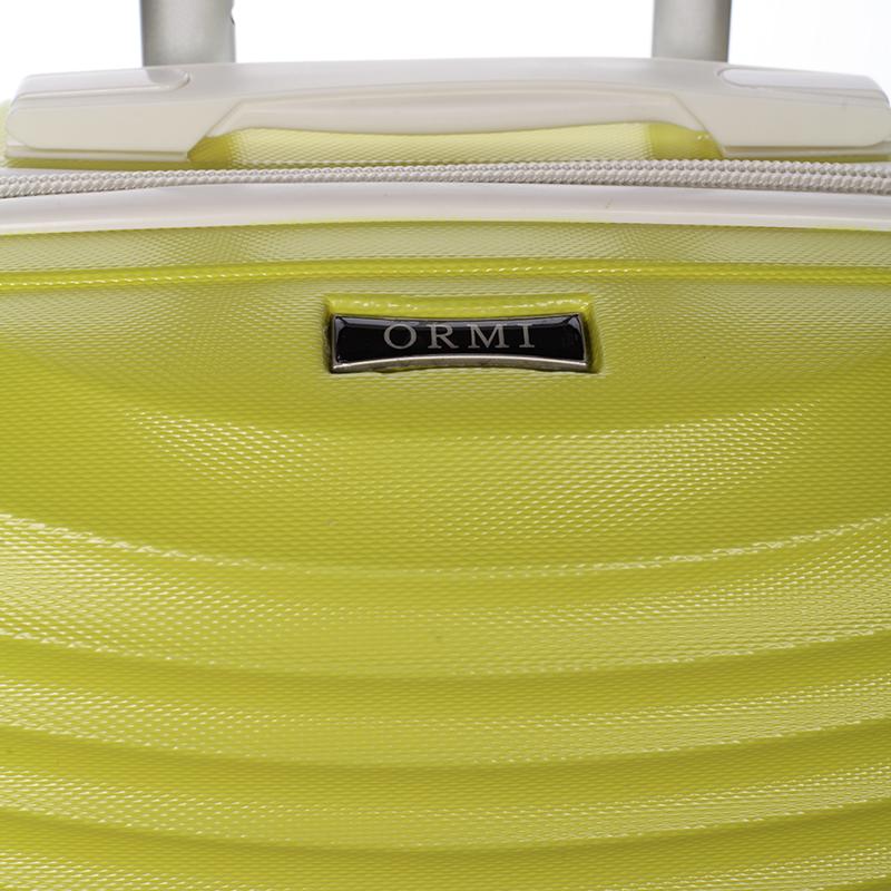 Stylový cestovní ORMI kufr 4 kolečka, vel. II, žlutý