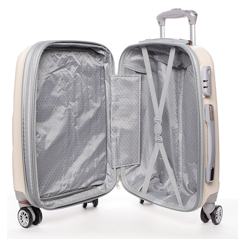Cestovní ORMI kufr 4 kolečka, vel. I, béžový