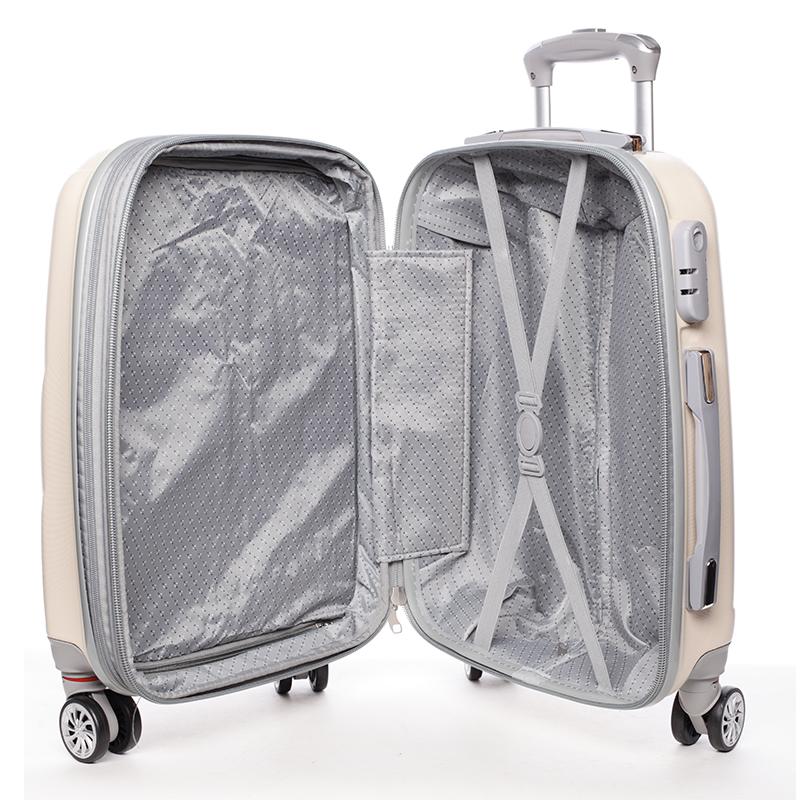 Cestovní ORMI kufr 4 kolečka, vel. III, béžový