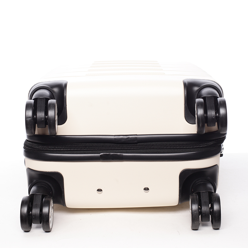 Cestovní stylový kufr 4 kolečka, vel. I, béžový