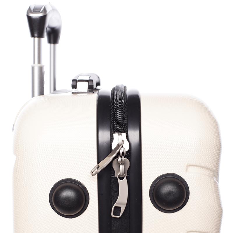 Cestovní stylový kufr 4 kolečka, vel. III, béžový
