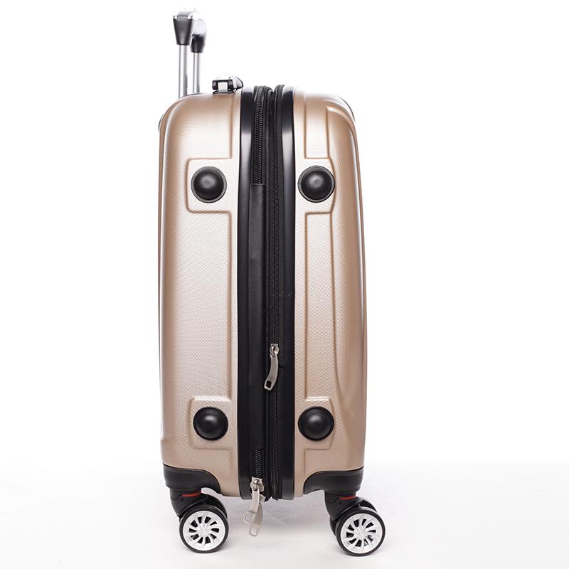 Cestovní módní kufr 4 kolečka, vel. III, zlatý