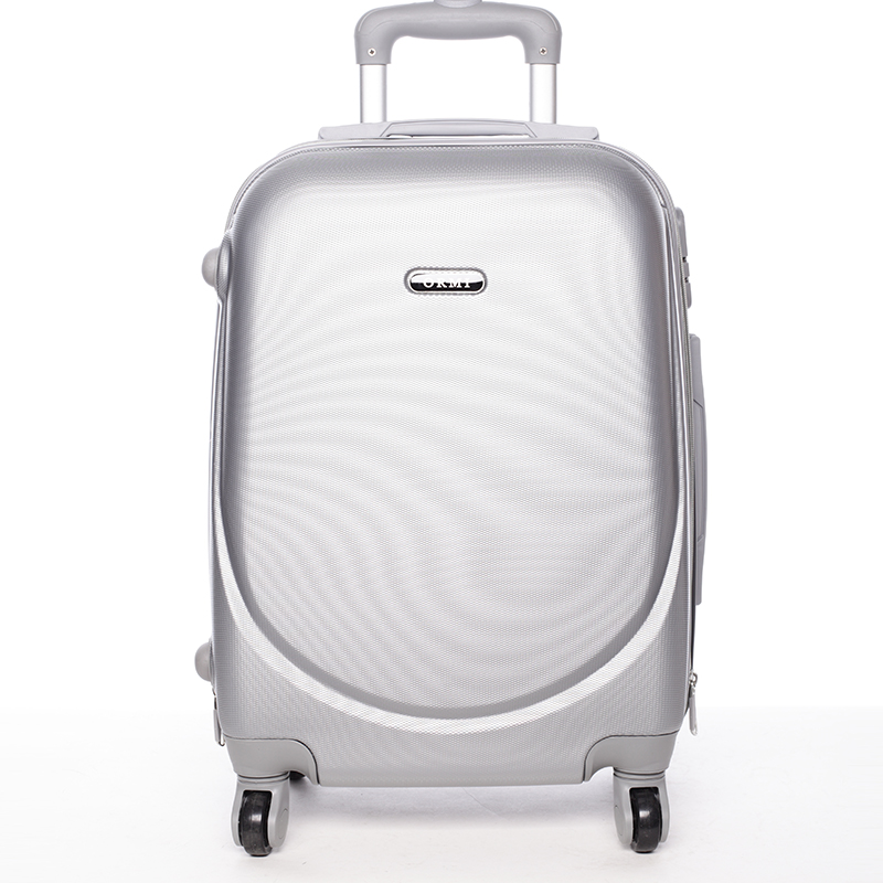 Stříbný cestovní kufr ORMI, 4 kolečka, vel. II