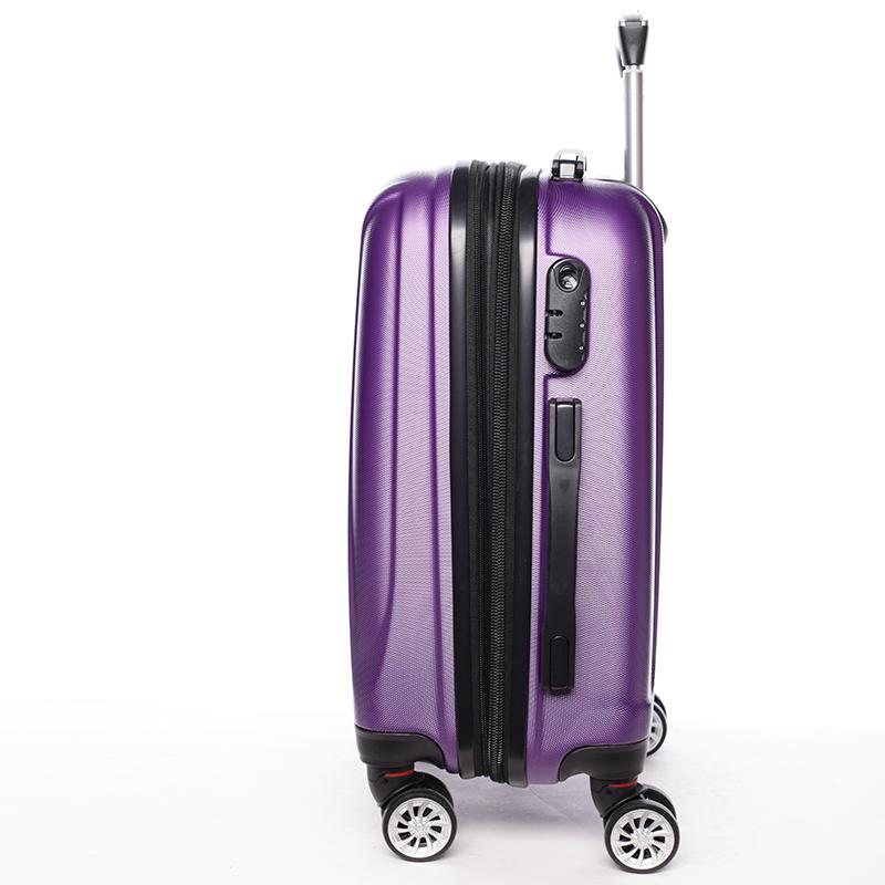 Cestovní stylový kufr 4 kolečka, vel. II, fialový