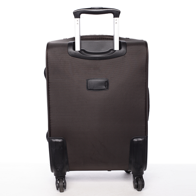 Látkový cestovní kufr ORMI kávový, vel. I, 4. kolečka