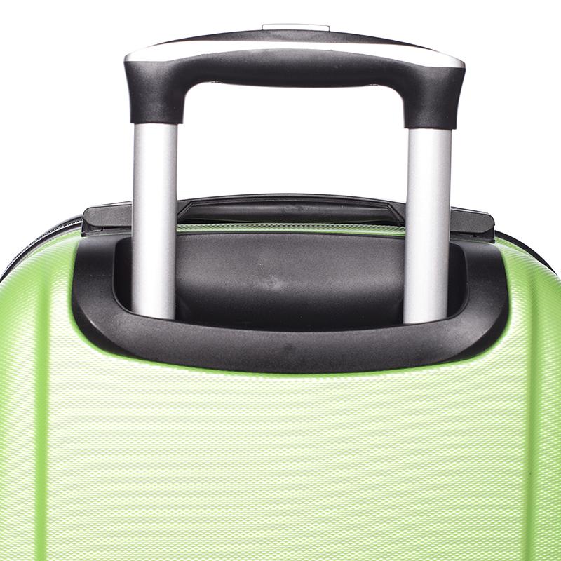 Cestovní stylový kufr 4 kolečka, vel. II, zelený