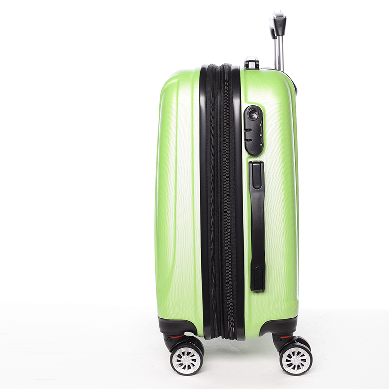 Cestovní stylový kufr 4 kolečka, vel. III, zelený