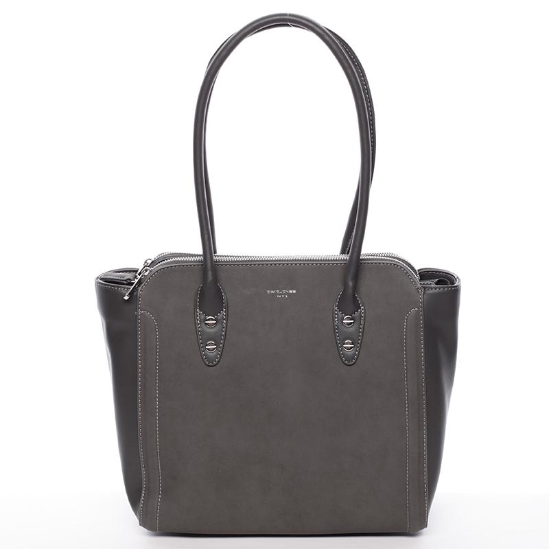 Elegantní kabelka přes rameno David Jones Miranda, tmavě šedá