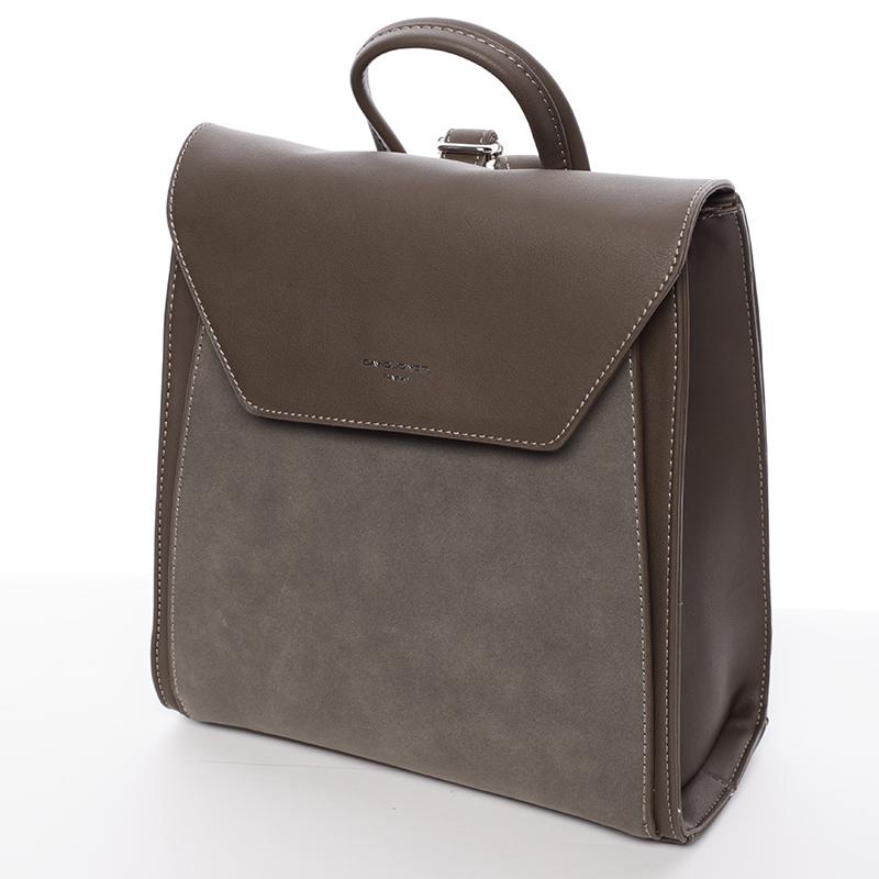 Elegantní dámský batůžek David Jones Sandra, khaki