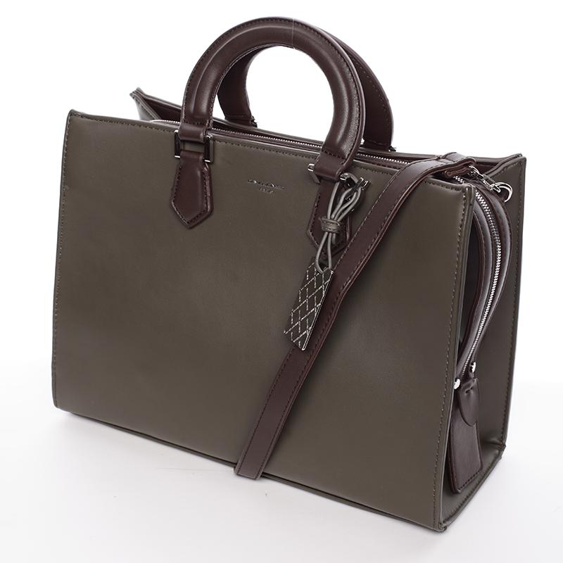 Elegantnní značková kabelka do ruky David Jones Saint Cloud, khaki