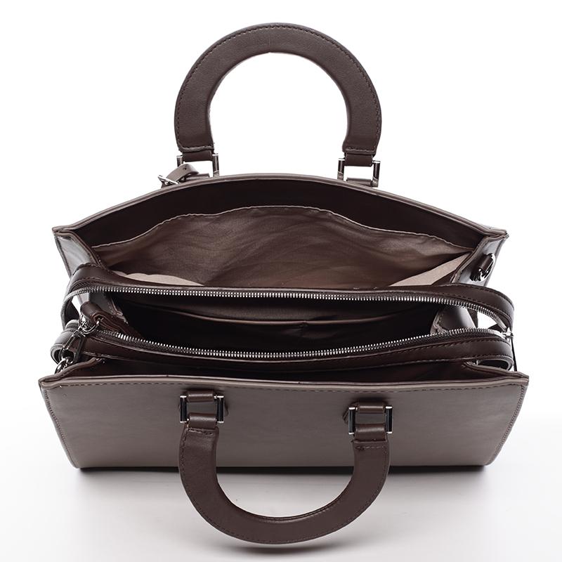 Elegantnní značková kabelka do ruky David Jones Saint Cloud, taupe